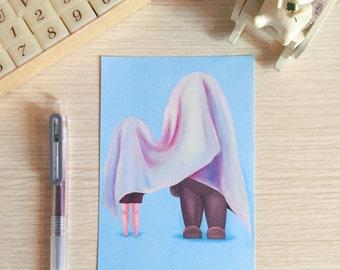 Hide and Seek II Postcard (A Print of an Original Painting)