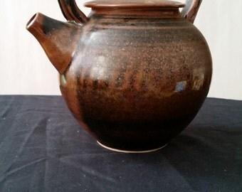 Black and Brown Ceramic Tea Pot