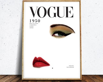 VOGUE Cover Printable, Fashion Print, Vogue Wall Art, Cover 1950, Printable Large Art, Vogue Poster, Fashion Printable, INSTANT DOWNLOAD