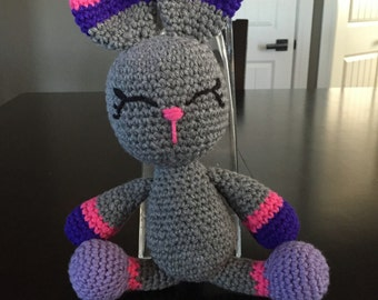 Crochet Bunny Stuffie, Crocheted Bunny, Amigurumi, Bunny Plushie, Stuffed Bunny, Toy Bunny, Stuffed Animal, Stuffed Toy