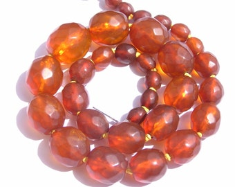 Edwardian Faceted Russian Amber Necklace