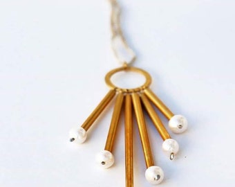 Tubes Pearly Necklace