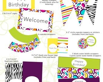 Roar! Printable Party Package