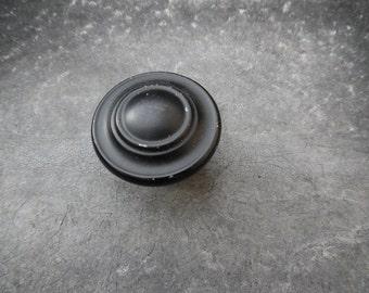 Vintage black metal knob - one
