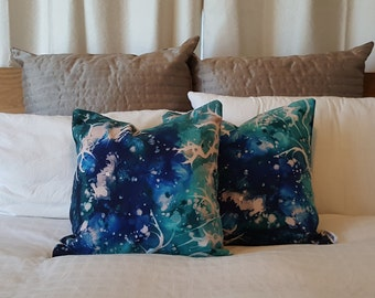 "Abstract art cushion cover ""Star Birth"""