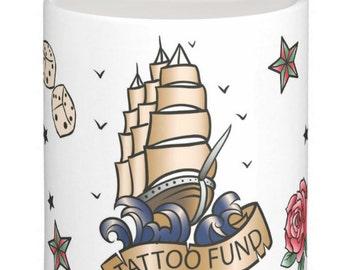 Tattoo Saving Fund, Retro Tattoo Money Box / Piggy Bank, Save for your tat money box