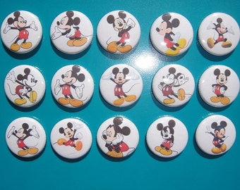 Mickey Mouse Buttons Set of 15