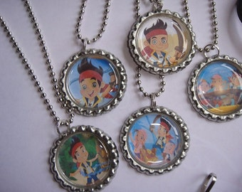 Jake and The Neverland Pirates Necklaces Set of 5