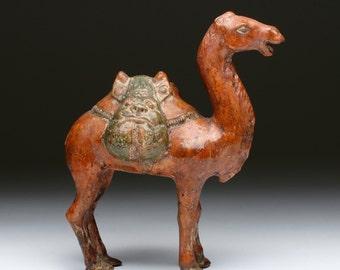 Chinese Tang Dynasty Sancai Glazed Camel
