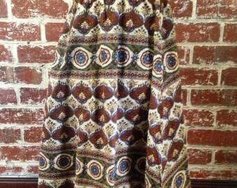 Handmade earthy bohemian high waisted skirt