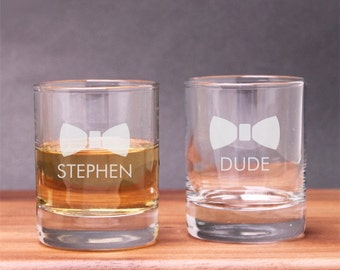 2 pcs Engraved Suit Up Groomsmen Shot Glasses (PPD-PSUPSG2)