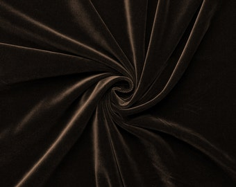 Gem - velvet fabric (Brown) cotton - 0, 5m