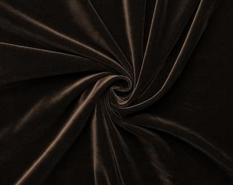 Gem - velvet fabric (Brown) cotton - 0, 5m