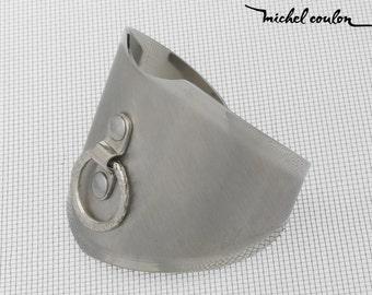 Bracelet brushed wide ring