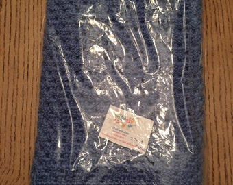 Blue Crochet Baby Blanket