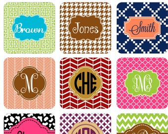 Cork Coaster Set | Personalized Coaster | Monogram Coaster Set | Hostess Gift