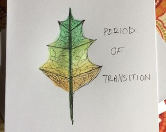 Period of Transition notecard