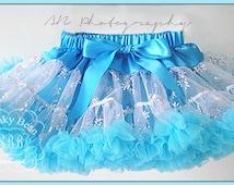 Snowflake Snow Queen Pettiskirt, Petticoat, ruffle baby skirt, baby tutu, fancy girls tutu, Frozen Inspired tutu, photography props