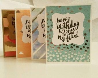 Birthday Cards (Blank Inside), Set of 4