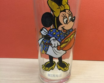 Minnie Glass, 1977 Walt Disney Happy Birthday Pepsi Glass