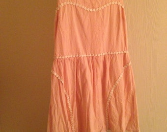 Peach lace trim sundress