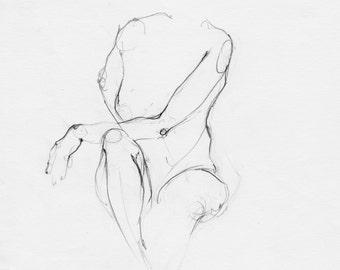 Chica con mano en rodilla