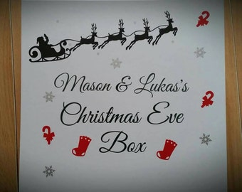 Personalised Christmas eve box 30x30x9cm