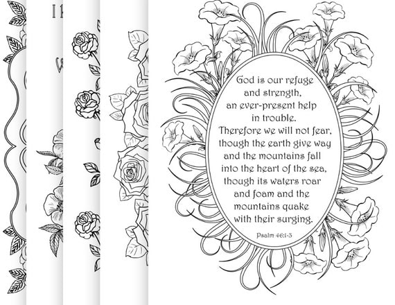 5 Bible Verse Coloring Pages Pack 6 Simple by ...