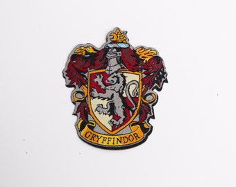 Harry Potter Hogwarts House Gryffindor patch - iron-on 3 inch patch