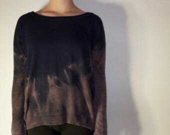 75% off SALE! Reverse-dye Indigo Sweater