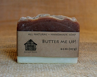 Butter Me Up! - All Natural Soap, Handmade Soap, Cold Process Soap, Vegan Soap, Unscented Soap