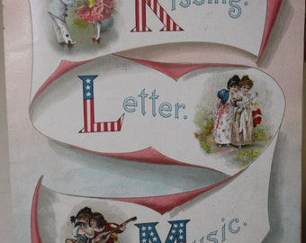 Vintage  Nursery Alphabet Book Page - Fourth of July - Book Illustrations - 1800s - 1920s- Frameable Art - Americana