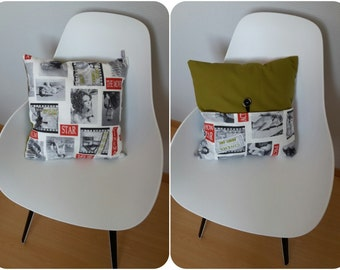 "Cushion patterned ""movie stars"""