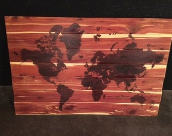 Cedar Handmade World Map