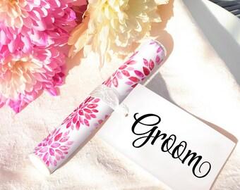 Sparklers Wedding Favour - PINK Floral Dahlia Design