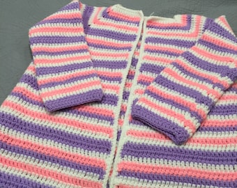 Ladies Striped Sweater Size M