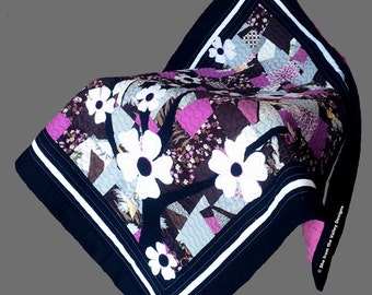 Sakuras baby quilt design and pdf pattern and tutorial