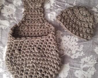 Crochet Hanging Baby Cocoon Prop