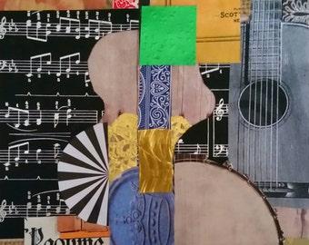 Still Life Of A Guitar And Banjo