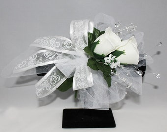 White Rose Bridal Corsage