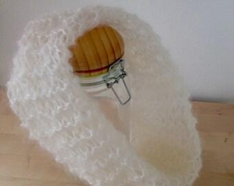 White mohair cowl