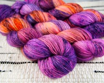 Thistle | Hand Dyed Sock Yarn | 400yds | 80% Superwash Merino, 10 Cashmere, 10 Nylon
