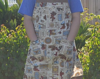 apron, kitchen apron, full apron, cotton apron, country living apron
