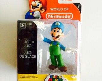 World of Nintendo: Ice Luigi Figure