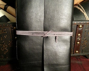 200 Page Faux Leather Journal or Sketchbook - black