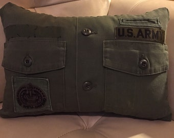Army green pillow