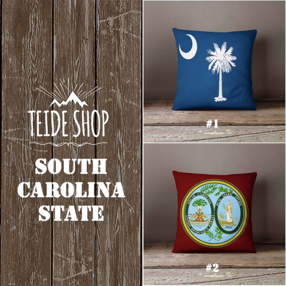 South Carolina State Pillowcase South Carolina Flag Home Decor