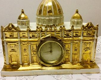 VINTAGE VATICAN CLOCK St Peters Clock Vatican Clock St Peters basilica with facial clock Vintage