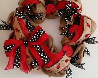 Ladybug wreath