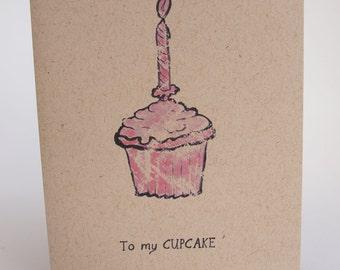 Greeting Card - To my cupcake